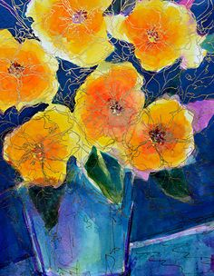 Artists Of Texas Contemporary Paintings and Art - Summer Seranade - Original Abstract Painting by Texas Contemporary Artist Filomena de Andrade Booth