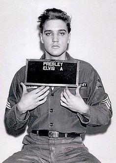 Elvis Presley - Army Mugshot - 1960 - Photo Poster