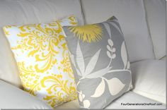 yellow mediallion pillow