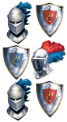 renaissance accessories supply | Medieval Knight Birthday Party Supplies - Tableware, Decorations ...