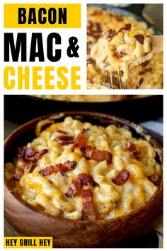 This Bacon Mac and Cheese is the grown up version of that comfort food you know and love from your childhood. It is easy to make and tasty to eat! You just can't go wrong with a heaping amount of bacon added to your mac and cheese!