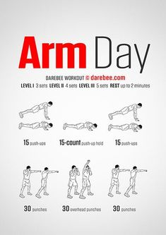 Workout Challenges To Do With Friends past Fitness Tracker That Plays Music quite Fitness Factory Bloomfield Nj Arm Day Workout, Arm Workout No Equipment, Workout Routine For Men, Gym Workout For Beginners, Gym Workout Tips, Tummy Workout, Workout Plans, Bodyweight Arm Workout, Hiit