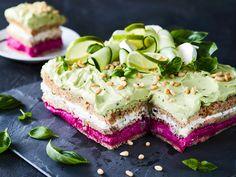 Sushi Torte, Sandwich Torte, Savoury Baking, Food Design, Finger Food, Sandwiches, Cheesecake, Cooking, Desserts