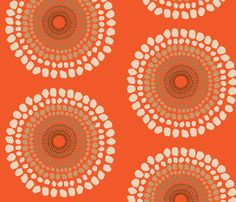 Tribal Orange  fabric by dolphinandcondor on Spoonflower - custom fabric