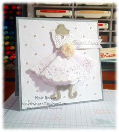 Bridal Shower card idea using Dress Up Framelits - Stampin' Up!