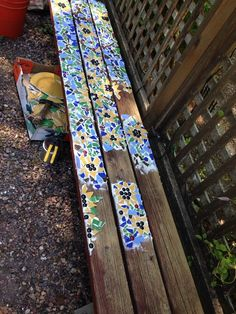 Mosaic bench project: by lee & recycled styling & Mosaic garden art, Mosaic, Mosaic designs Article Gallery Ideas] The post Mosaic bench project: by lee Mosaic Garden Art, Mosaic Art, Mosaic Glass, Mosaic Tiles, Glass Art, Stained Glass, Tiling, Mosaic Crafts, Mosaic Projects