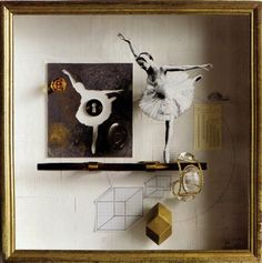 """Clever """"art box"""" showcasing jewelry, hardware, and art objects...from Connie McCreight Interior Design Blog"""
