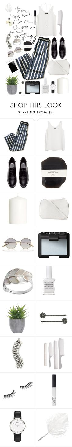 """""""Untitled #91"""" by gina787 ❤ liked on Polyvore featuring LIU•JO, MANGO, H&M, Pelle, Linda Farrow, NARS Cosmetics, Mother, Obsessive Compulsive Cosmetics, Lux-Art Silks and 1928"""