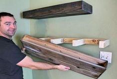 20 Ideas Diy Storage Wood Floating Shelves For 2019 Diy Kitchen Storage, Bathroom Storage, Art Storage, Wood Storage, Bathroom Shelves, Storage Shelves, Storage Ideas, Wooden Floating Shelves, Diy Regal