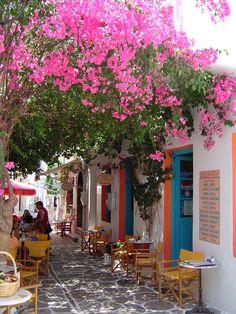 A cute cafe in Antiparos , Greece