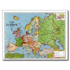 Old Europe Map Printable Digital DownloadVintage Europe Map - Vintage europe map poster