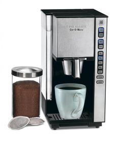 Cuisinart Compact Single Serve Coffee Maker Innovation : Black And Brushed Chrome Cuisinart Compact Single Serve Coffee Maker