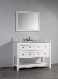 "48"" Single Bathroom Vanity Set with Mirror | Wayfair"