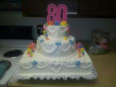 80th Birthday cake for my Mom.