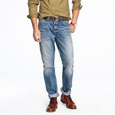 Wallace & Barnes slim-fit jean in salt fade wash