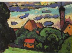 Gabriele Munter Landschaft in Murnau