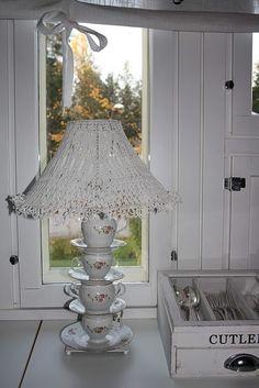 """Alice in Wonderland"" lamp of teacups"