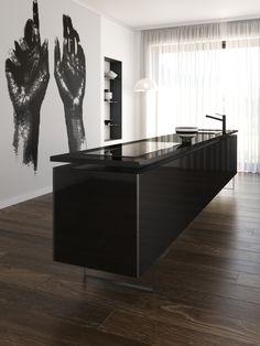 Iconic Black, Modern Kitchens