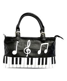 Another great find on #zulily! Black & White Piano Keyboard Tote…