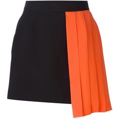 Fausto Puglisi Pleated Panel Skirt (2.150 VEF) ❤ liked on Polyvore featuring skirts, bottoms, black, silk skirt, knee length pleated skirt, black skirt, panel skirt and pleated skirt