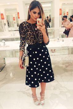Saia – Tigresse | Blusa – Dolce & Gabbana | Cinto – Daslu | Sandália - Fendi | Bolsa – Chanel