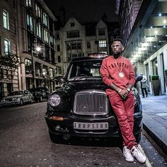 Fabolous wears Trapstar Sweatshirt, Balmain Jeans, Air Jordan 2 Retro Sneakers in London | UpscaleHype