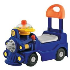 Our baby loves this train.  He has fun riding on it and can scoot around on it by himself.  This toy is great because it doesn't have batteries and still keeps babies (and big kids) occupied!