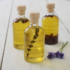 Lavender and Camomile Bath Soak.....Camomile is the best essential oil for calming and soothing, and of course lavender.