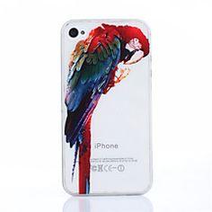modello pappagallo TPU morbida per iPhone 4 / 4S – EUR € 3.99