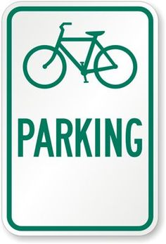 [Decor] Bicycle Parking Sign ($12.67)