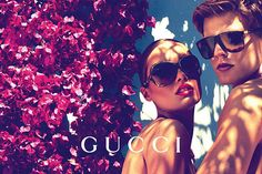 Let's try to remember what the Gucci brand prepared for its Cruise 2012 fashion eyewear collection photographed by Mert Alas and Marcus Piggot.  Karmen Pedaru is the face of Gucci's campaign. The bright images are shot in a garden setting where Karmen and her partner are sporting…
