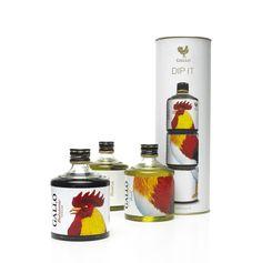 Gallo (Três pequenas garrafas empilháveis: Reserva, Manjericão e Vinagre Balsâmico)