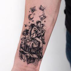 Illustrative Tattoos mit ganz viel Herz – Tattoo Spirit - Page 2 M Tattoos, Small Tattoos, Sleeve Tattoos, Tattoos For Guys, Cool Tattoos, Globus Tattoos, Sketch Style, New York Tattoo, Aquarell Tattoo