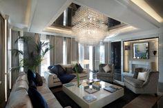 Bespoke Giogali Pendant At Baglioni Hotels Roman Penthouse By R+S Design.
