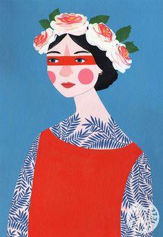Portrait by Amy Blackwell, 2015. Acrylic on Greyboard. www.amyblackwell.co.uk
