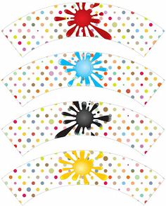 Laine Design: Freebies---lots of free printables for drinks, cupcake wrappers/toppers, etc Art Birthday, Animal Birthday, Party Printables, Free Printables, Cupcake Wrappers, Candy Wrappers, Numbers Kindergarten, Free Printable Art, Cupcake Party
