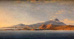 August Wilhelm Ahlborn Blick auf Ischia 1832 Romantic Period, Romanticism, Painters, Unique Art, Artists, Artwork, Sorrento, Work Of Art, Quirky Art