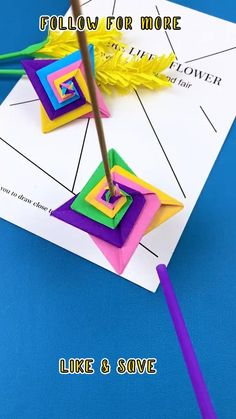 Paper Crafts Origami, Paper Crafts For Kids, Diy Arts And Crafts, Creative Crafts, Diy For Kids, Fun Crafts, Summer Crafts, Diy Crafts Hacks, Diy Crafts Videos