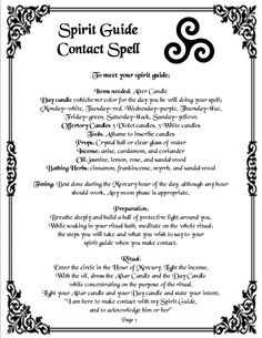 Spirit Guide Contact Spell pg1