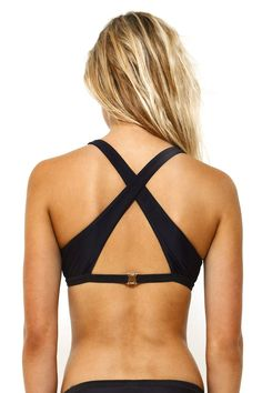 5ef0e96d78 Sporty black bikini top from First Base Apparel