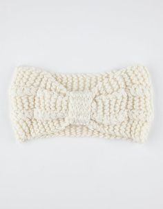 Knotted Sweater Knit Headwrap -Ivory
