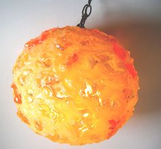 Lava Lishous Resin Chunk Hanging Swag Lamp.  Vintage 1960's.  Tiki, Mod, Kitsch, Mid century modern, Eames era.