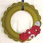 Free Crochet Yarn Wreath Pattern