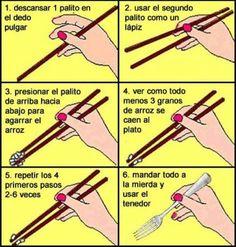 Cómo comer Comida China con los palillos
