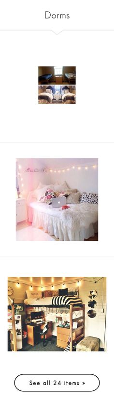 """Dorms"" by laceyleanne18 ❤ liked on Polyvore featuring home, home decor, house, bedrooms, pictures, rooms, images, places, inspirational home decor and bed & bath"