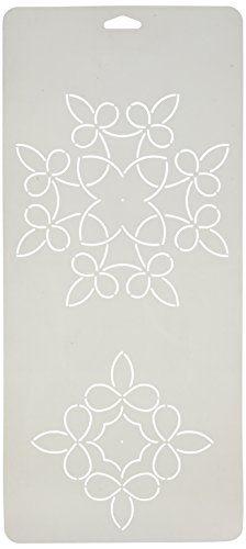 Sten Source Quilt Stencils by Barbara Chainey, 6-Inch and 8-Inch C. L. Loopy Leaf Blocks, 8-Inch x 18-Inch