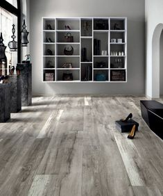 ariana legend grey 8 in x 48 in porcelain wood look tile legend wood look tiles. Black Bedroom Furniture Sets. Home Design Ideas