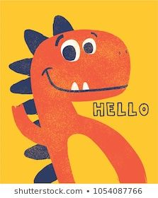 Portfólio de MKE design no Shutterstock cute dinosaur drawn as vector with grunge texture for kids fashion