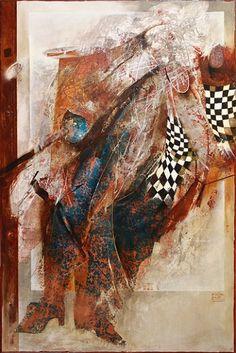 FAUNOVO NESKORÉ ODPOLUDNIE, 180x120 cm, mixed media / FAUN´S LATE AFTERNOON Bratislava, Mixed Media, Gallery, Painting, Art, Art Background, Roof Rack, Painting Art, Kunst