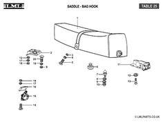 (25) - DUAL SADDLE-BAG HOOK - Tasso LML Scooter Spare Parts